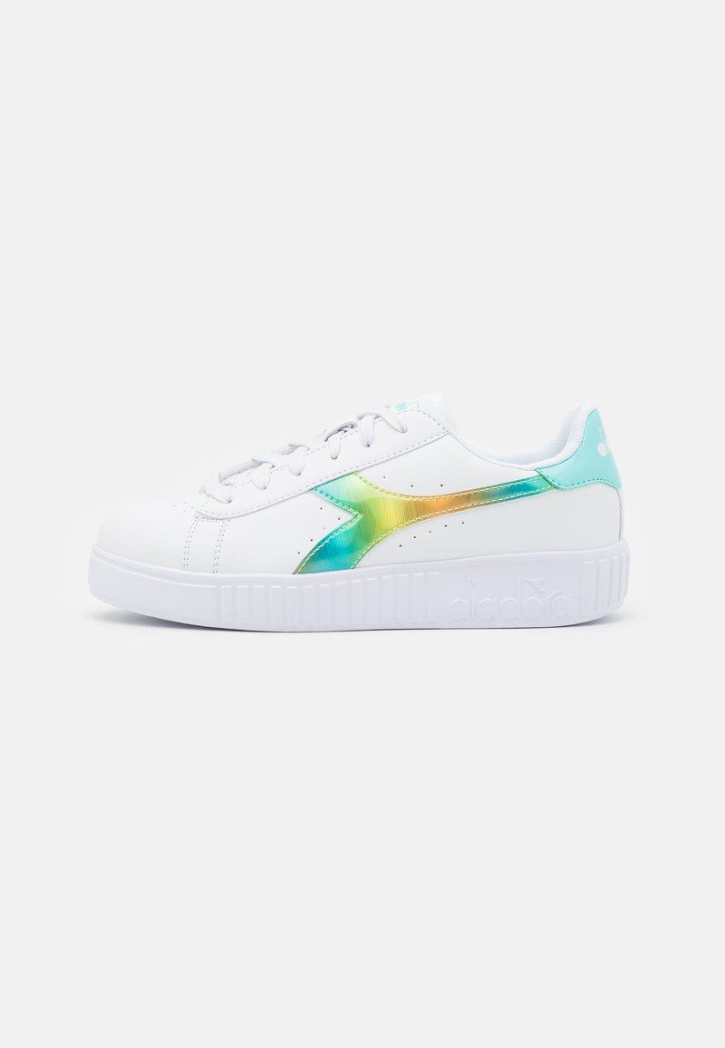 Diadora - GAME STEP RAINBOW UNISEX - Sports shoes - white/blue tint