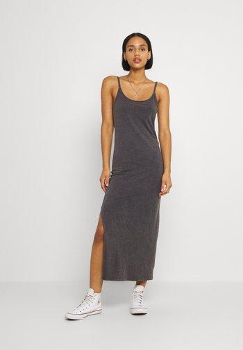 MAXI SLIP - Maxi dress - washed black