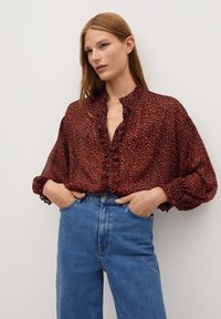 Mango - GARDEN - Button-down blouse - rood - 0