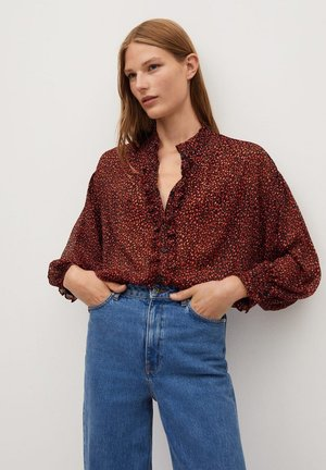 GARDEN - Button-down blouse - rood