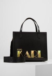 KARL LAGERFELD - SMALL TOTE - Kabelka - black - 0