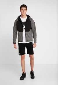 FIRST - ALLEN HOOD ZIP JACKET - Mikina na zip - medium grey melange - 1
