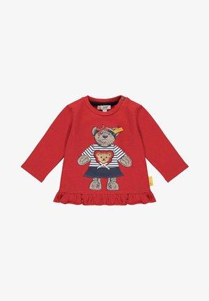 MIT SÜSSEM FRONTPRINT - Sweatshirt - tango red