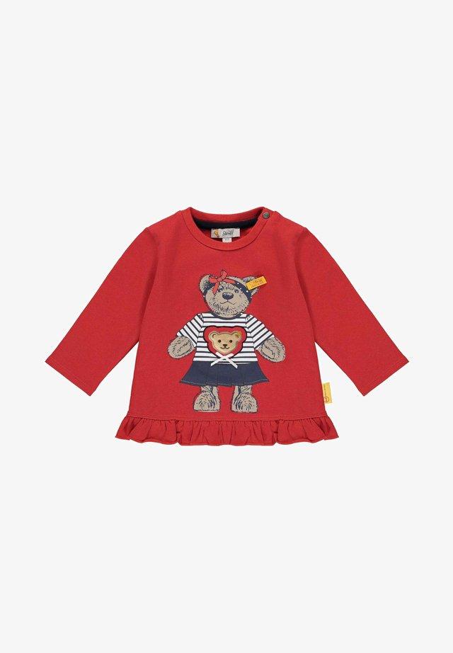MIT SÜSSEM FRONTPRINT - Sweater - tango red