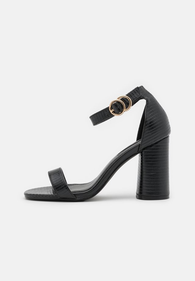 SOPHIA 2 PART BLOCKHEEL - Sandalias - black