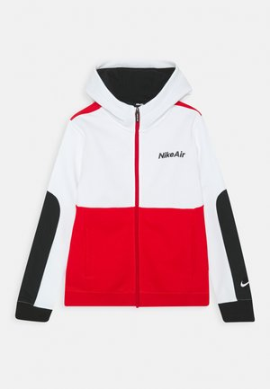 AIR HOODIE - veste en sweat zippée - white/university red/black