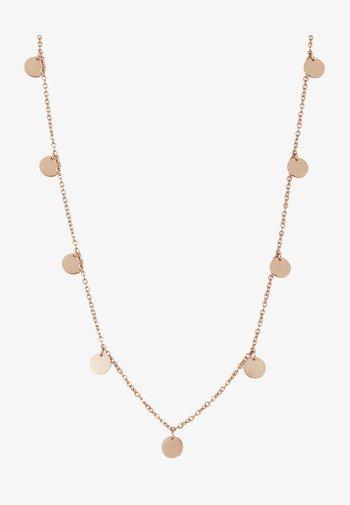 KREIS PLÄTTCHEN GEO - Necklace - rose gold-coloured