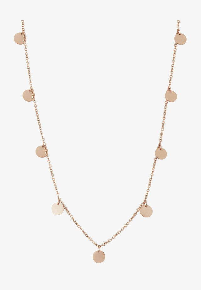 KREIS PLÄTTCHEN GEO - Necklace - rose gold-coloured