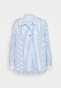 sandro - ALINE - Button-down blouse - ciel/blanc - 3
