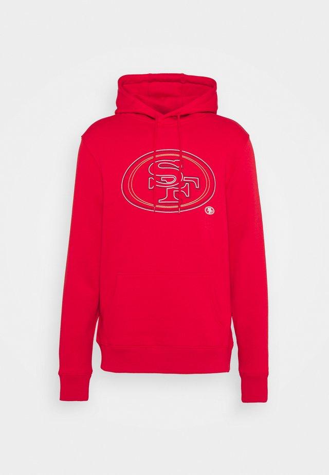 NFL SAN FRANCISCO 49ERS GLOW CORE GRAPHIC HOODIE - Fanartikel - game red