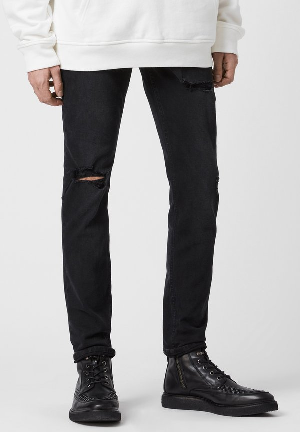 AllSaints REX - Jeansy Slim Fit - black/czarny Odzież Męska JARB