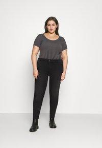 Pieces Curve - PCNEW - Jeans Skinny Fit - black denim - 1