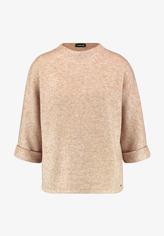 3/4 SLEEVE - Long sleeved top - toffee melange