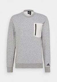 medium grey heather/cream white