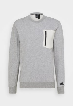 MUST HAVES SPORTS - Bluza - medium grey heather/cream white