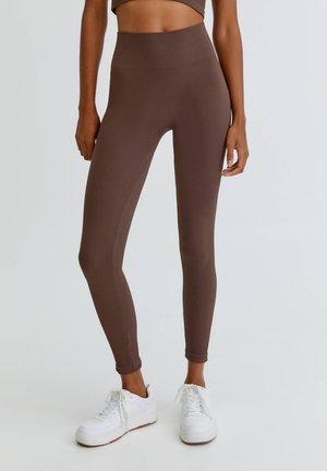 IM KOMFORT-FIT - Leggings - Trousers - mottled light brown