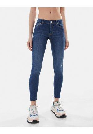 LOW WAIST PUSH UP - Jeans Skinny Fit - dark blue