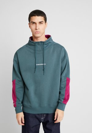 FUNNEL NECK WORDMARK  - Sudadera - faded spruce