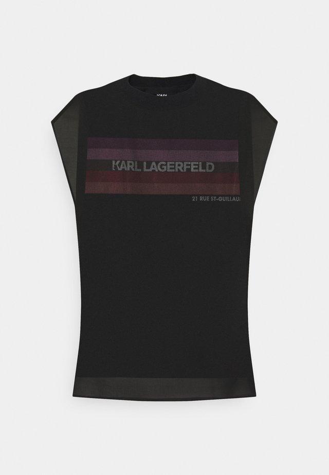 MIX - Print T-shirt - black