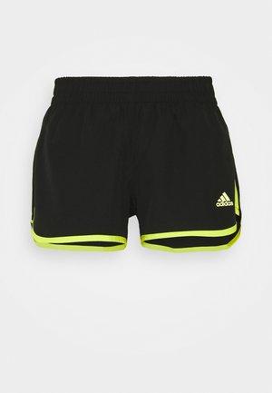 M20 SHORT - Sports shorts - black/acid yellow