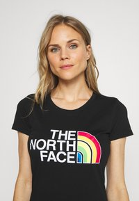 The North Face - RAINBOW TEE - T-shirts med print - black - 3