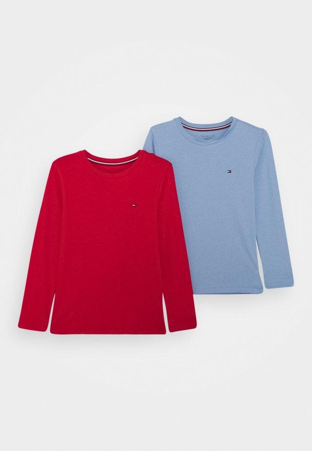2 PACK - Pyjama top - light blue/red