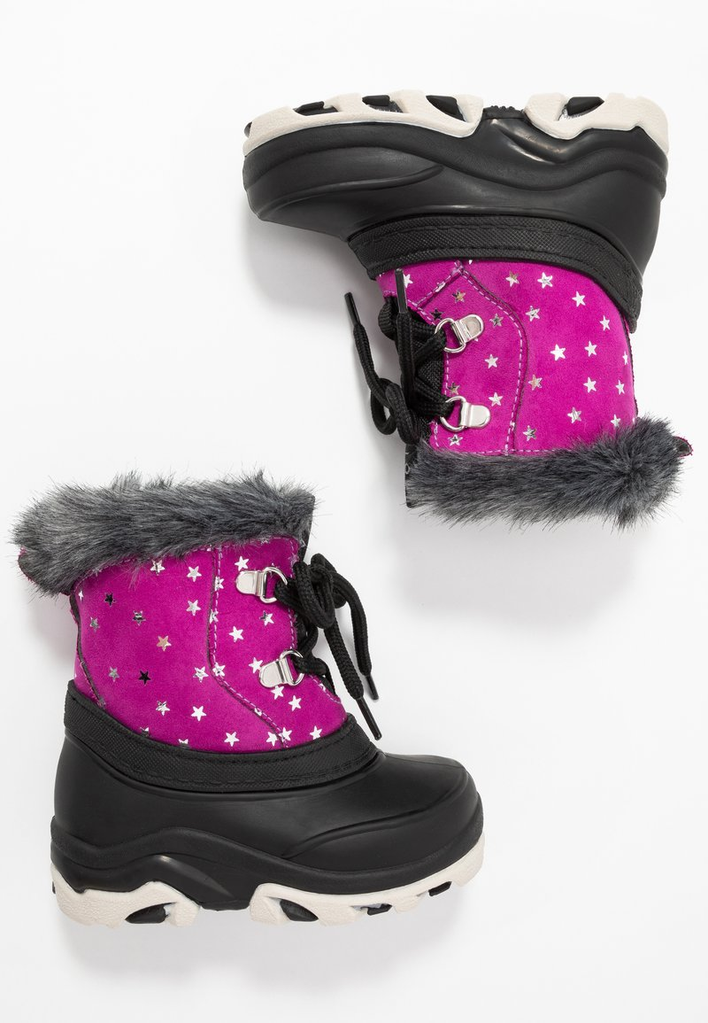 Friboo - Winter boots - black/pink