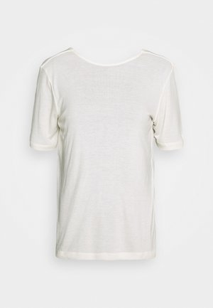 MONA DEEP BACK TOP - Basic T-shirt - egret