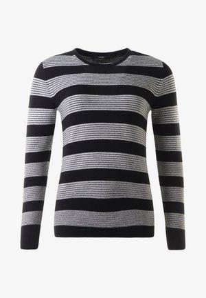 Stickad tröja - schwarz offwhite