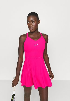 DRY DRESS - Sports dress - vivid pink/white
