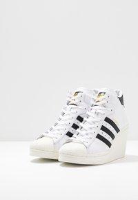 adidas Originals - SUPERSTAR ELLURE - High-top trainers - footwear white/core black/offwhite - 6