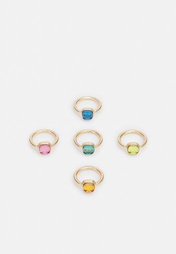 PCGLASSINO RING 5 PACK - Pierścionek - gold-coloured/multi