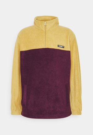 EULOGY MOCK NECK ZIP - Fleece jumper - almond