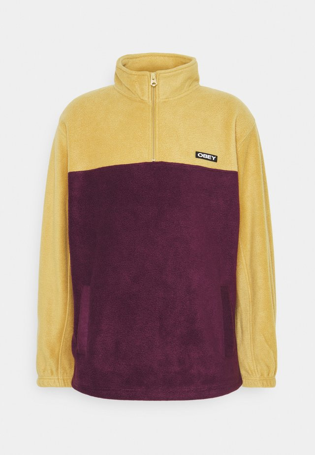 EULOGY MOCK NECK ZIP - Sweat polaire - almond