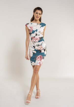 Cocktail dress / Party dress - green / multi
