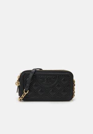 FLEMING DOUBLE ZIP MINI BAG - Across body bag - black