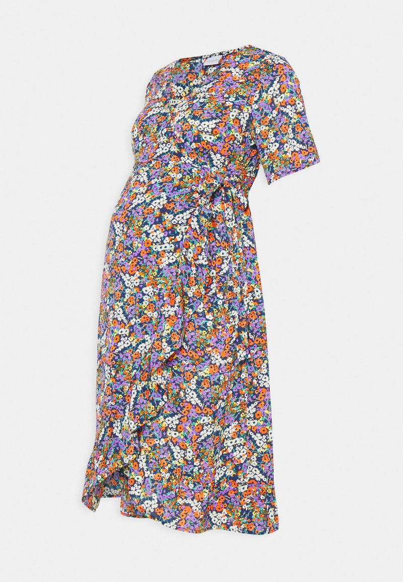 MAMALICIOUS - NURSING DRESS - Vestido informal - navy blazer/small flowers