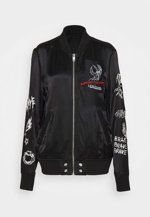 J-SMOKED - Bomber Jacket - black