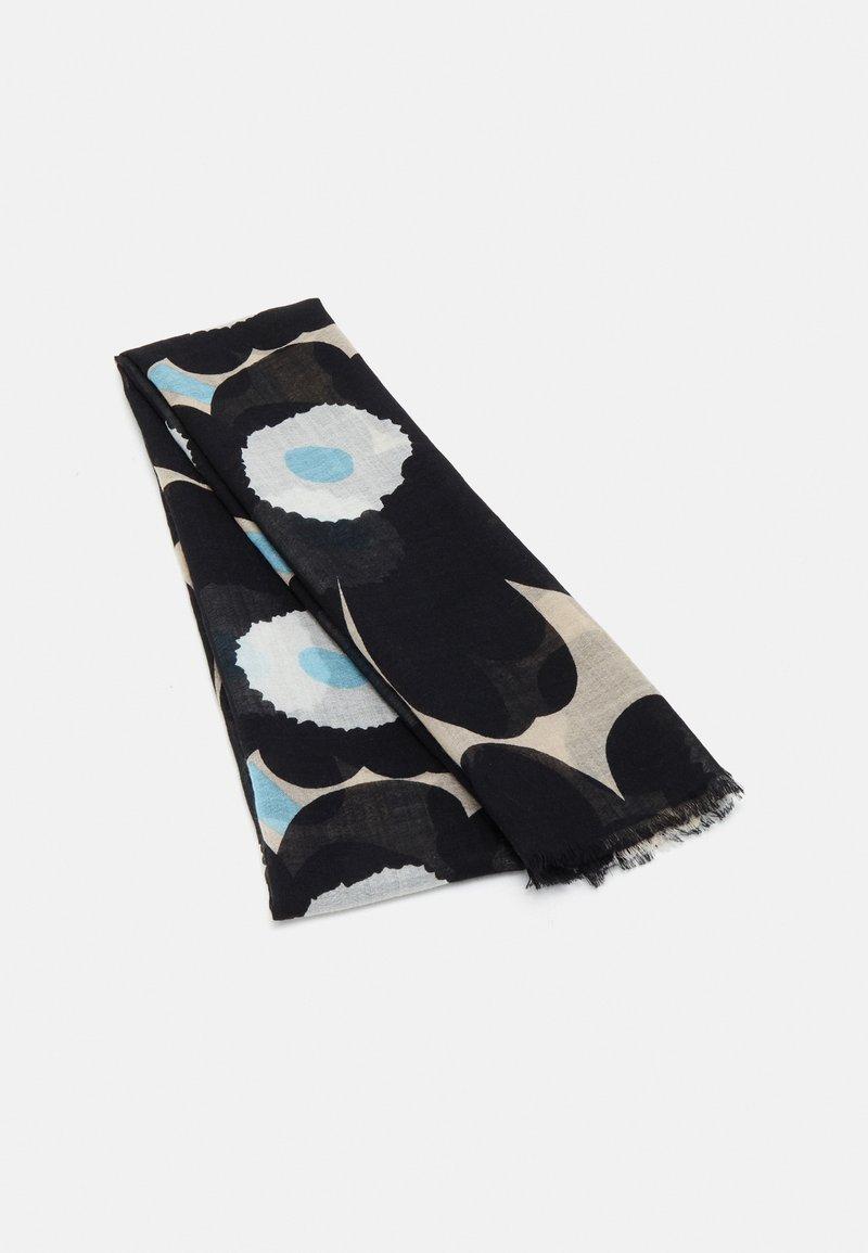 Marimekko - FIORE PIENI UNIKKO SCARF - Scarf - off-white/black/blue