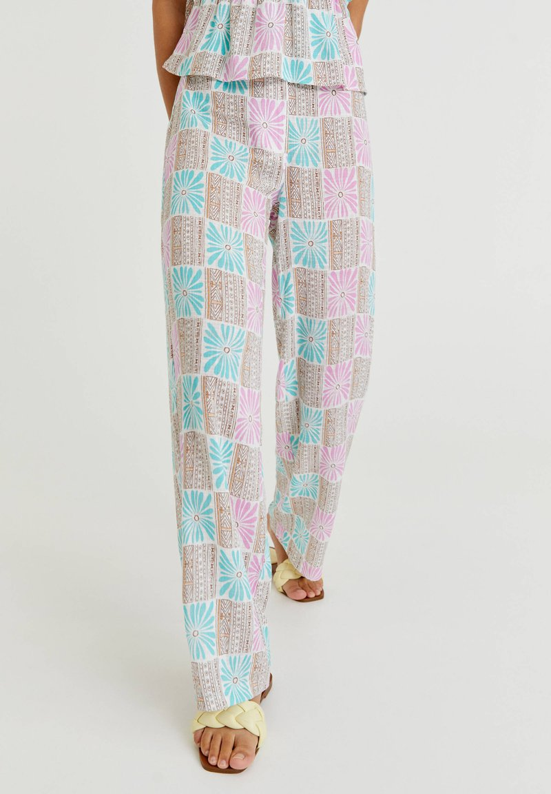 PULL&BEAR - Trousers - turquoise