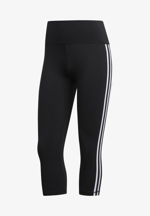 BELIEVE THIS 3 STRIPES LEGGINGS - 3/4 sports trousers - black