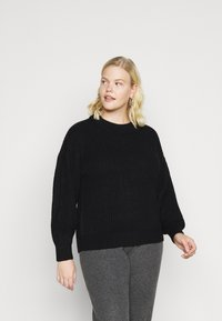 Vero Moda Curve - VMTUFURN  BALLOON NECK  - Jumper - black - 0
