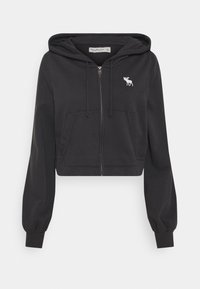 Abercrombie & Fitch - PUFF SLEEVE - Mikina na zip - phantom navy - 0