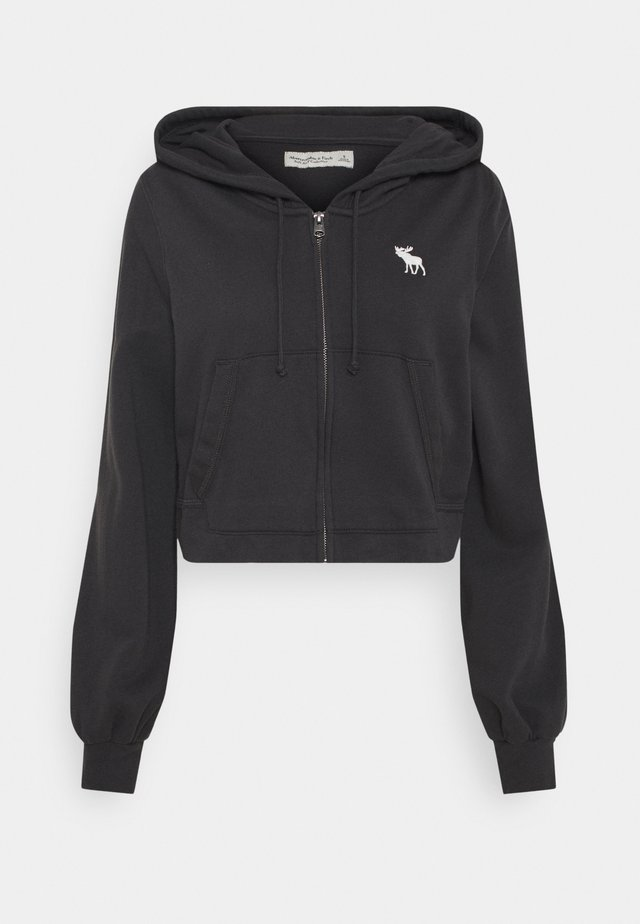 PUFF SLEEVE - Zip-up hoodie - phantom navy
