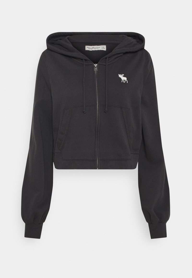Abercrombie & Fitch - PUFF SLEEVE - Mikina na zip - phantom navy