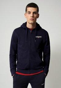 Napapijri - B-ICE FULL ZIP HOOD - Zip-up hoodie - medieval blue - 0