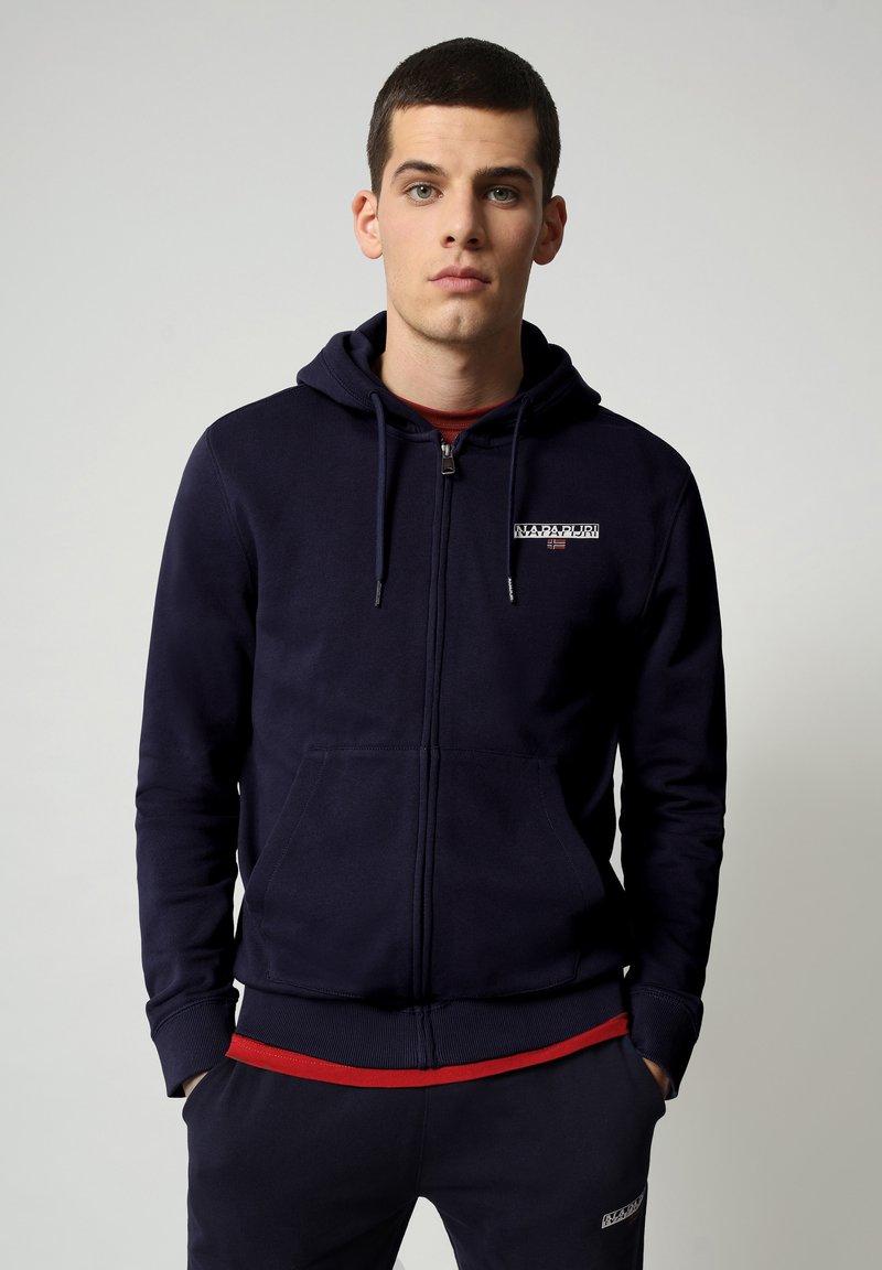 Napapijri - B-ICE FULL ZIP HOOD - Zip-up hoodie - medieval blue
