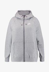 HOODY PLUS - Tröja med dragkedja - grey heather/white