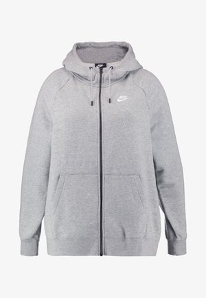 HOODY PLUS - Bluza rozpinana - grey heather/white