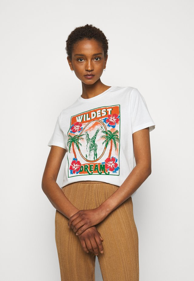 TRISHA - T-shirt print - ecru